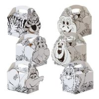 Animal / Jungle Colouring In Meal Party Box